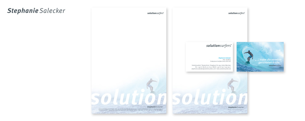 Solutionsurfers Coaching Visitenkarten